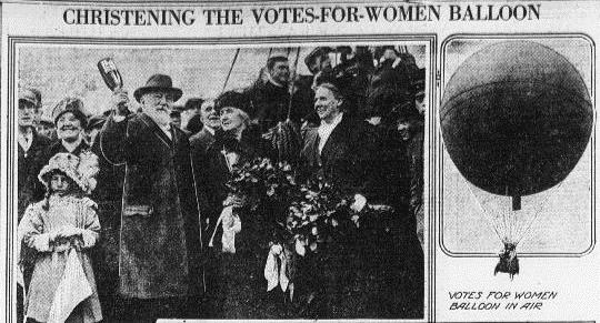 Votes For Women Balloon-9-30-1914