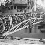 7-31-1915 Navy Yard marines boarding connecticut