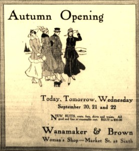 9-20-1915 Wanamaker and Brown