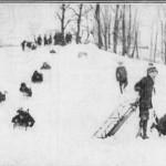 12-15-1915 Sledding in Cobb's Creek