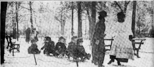 2-15-1916 Rittenhouse Sq. Sledding
