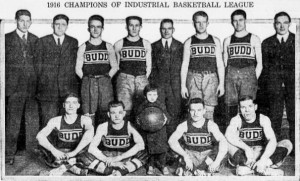 2-25-1916 E.G.Budd Basketball Team