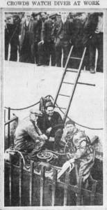 4-14-1916 Diver at work