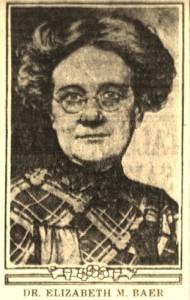4-19-1916 Dr. Elizabeth Baer