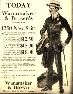 4-6-1916 Wanamaker & Brown