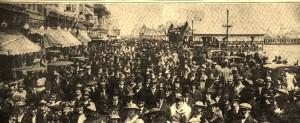 Atlantic City Boardwalk Crowd-4-18-1916